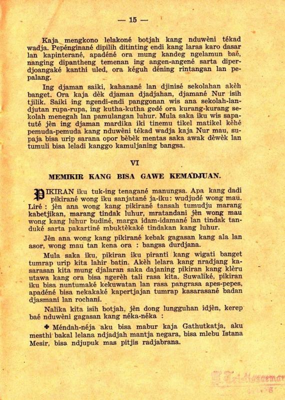 Halaman 15 TEKAD WADJA oleh Imam Supardi.