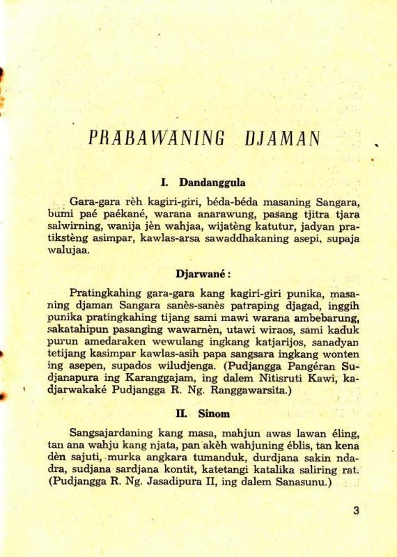 Halaman 3 buku NITISASTRA karya R. Tanojo.