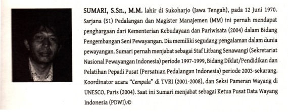 Profil penulis pendamping buku RUPA DAN KARAKTER WAYANG PURWA terbitan Kakilangit Kencana.