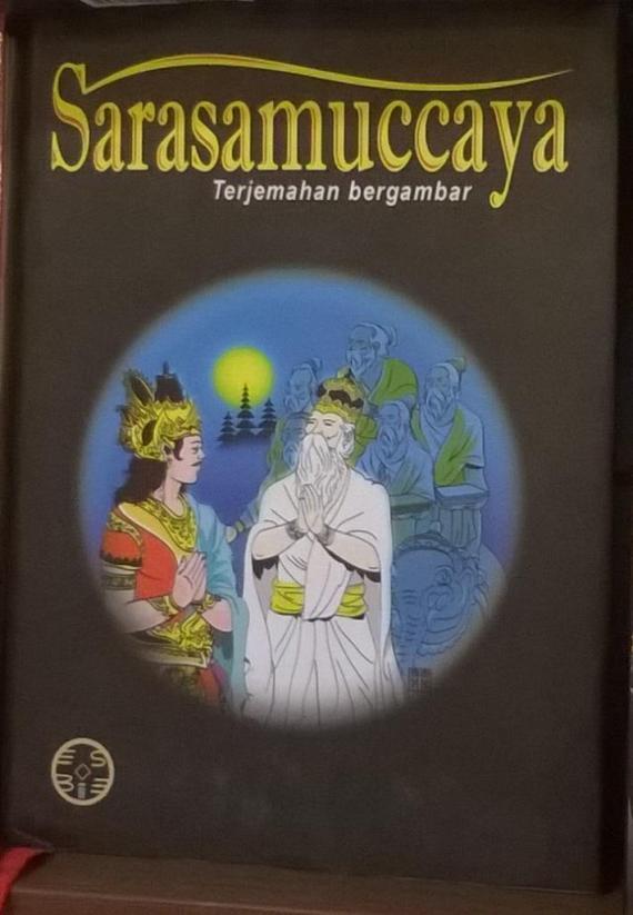 Buku SARASAMUCCAYA terbitan penerbit ESBE, Bali. Buku kedua dari rangkaian trilogi buku Bhagawad Gita, Sarasamuccaya dan Manawa Dharmasastra.