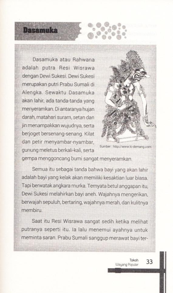 DASAMUKA  1 dalam buku Tokoh Wayang Populer oleh Muh Faisal.
