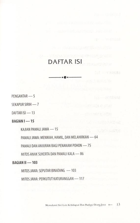 Daftar Isi buku ILMU KUNO oleh Sri Wintala Achmad