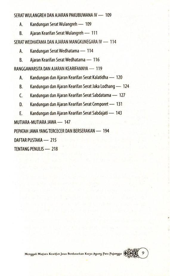 Dftr Isi 3 Ensiklopedia Kearifan Jawa- Sri Wintala A cmprs
