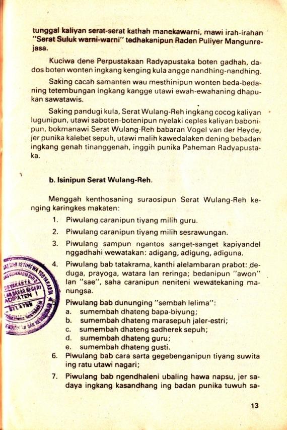 Hlm 13 Srt Wulang Reh- Darusuprata cmprs