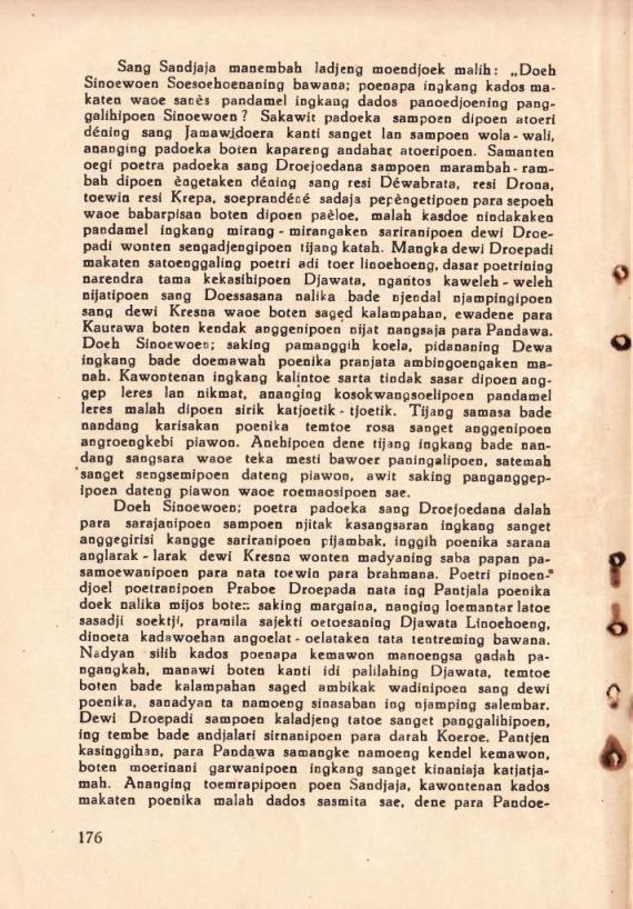 Halaman 176 Mahabharata Kawedar 1939 Juli