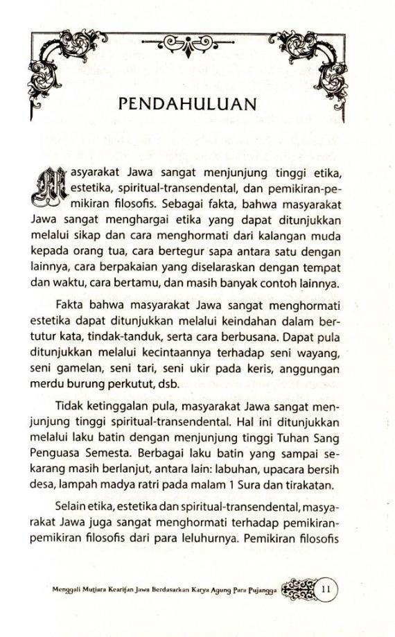 Pendahuluan buku ENSIKLOPEDIA KEARIFAN JAWA karya Sri Wintala Achmad
